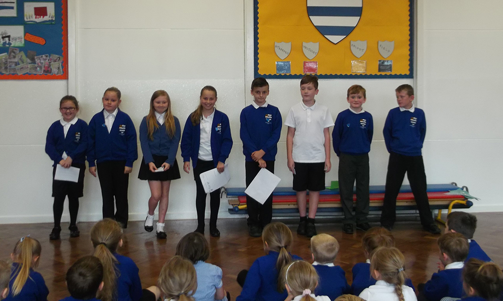 Our Head pupil candidates addressing the school
